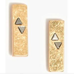 🆕Madewell Gold Pyramid Bar Stud Earrings